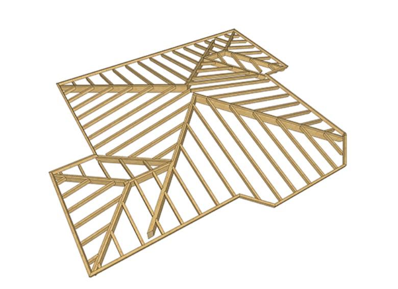 progettazione 3d tetti in legno