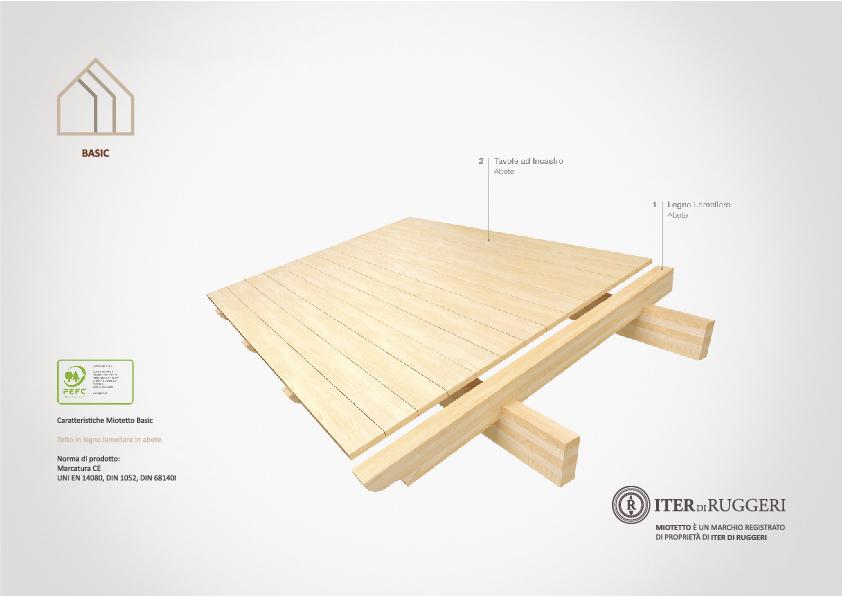 copertura in legno coibentato standard