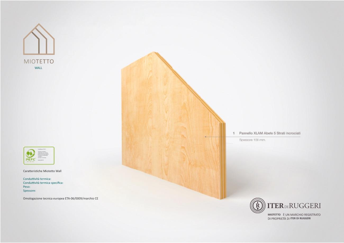 pareti in legno coibentato